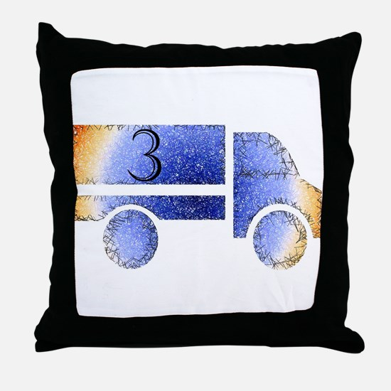 Baby is Three - 3 Month? or 3 Year? Throw Pillow