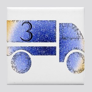 Baby is Three - 3 Month? or 3 Year? Tile Coaster