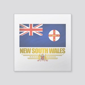 """New South Wales (Flag 10) 2 Square Sticker 3"""""""