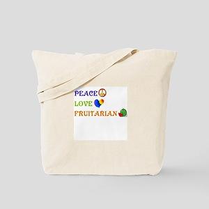 Peace Love Fruitarian Tote Bag