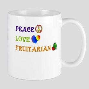 Peace Love Fruitarian Mug