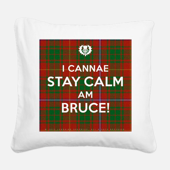 Bruce Square Canvas Pillow