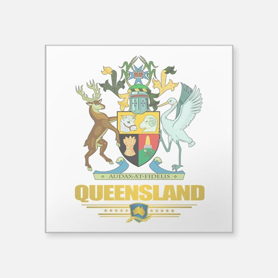 "Queensland COA 2.png Square Sticker 3"" x 3"""