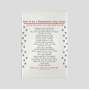 Responsible Dog Owner Rectangle Magnet