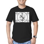 The Indian Head Test Pattern Men's Fitted T-Shirt