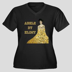Adele Bloch Bauer by Klimt Women's Plus Size V-Nec
