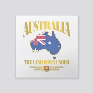 "Land Down Under Square Sticker 3"" x 3"""