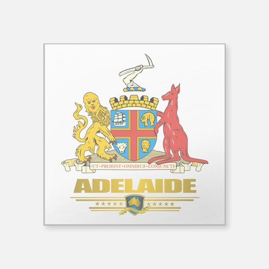"""Adelaide (Flag 10)2.png Square Sticker 3"""" x 3"""""""