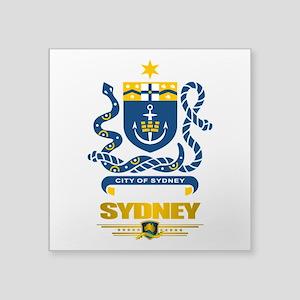 "Sydney (Flag 10)2 Square Sticker 3"" x 3"""