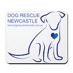 Dog Rescue Newcastle simple logo 2 Mousepad