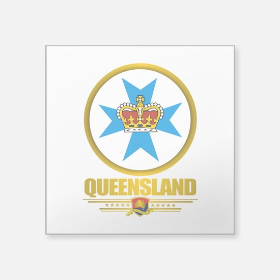 "Queensland Emblem Square Sticker 3"" x 3"""