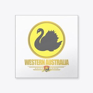 "Western Australia Emblem Square Sticker 3"" x 3"""