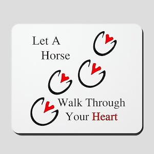 Horse Hoof Hearts Mousepad