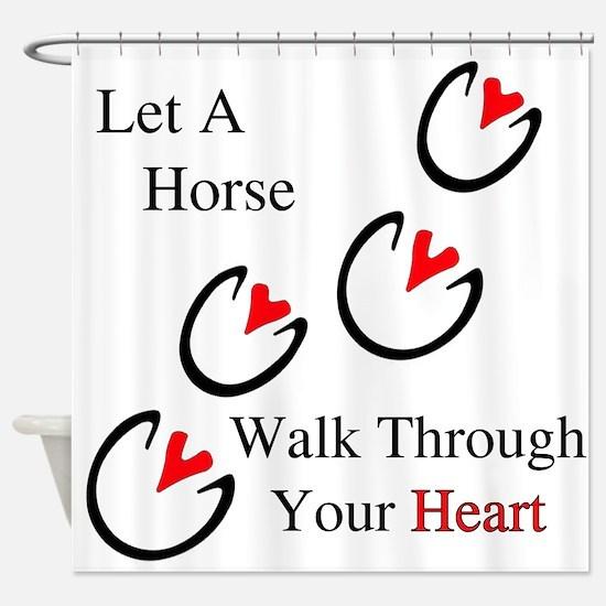 Horse Hoof Hearts Shower Curtain
