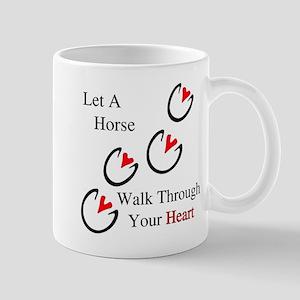 Horse Hoof Hearts Mug