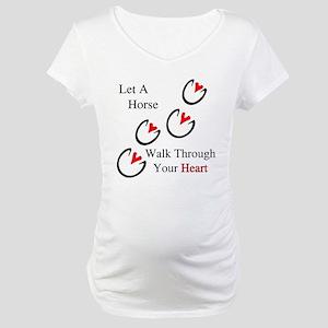 Horse Hoof Hearts Maternity T-Shirt