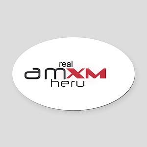 amxm_heru Oval Car Magnet