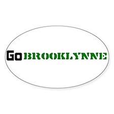 go_brooklynne Sticker (Oval)