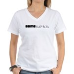 Same_seks Women's V-Neck T-Shirt