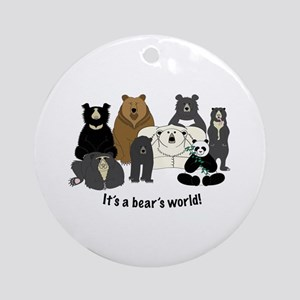 Bear's World Ornament (Round)
