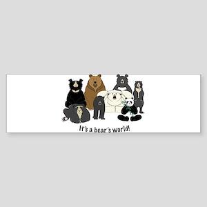 Bear's World Sticker (Bumper)