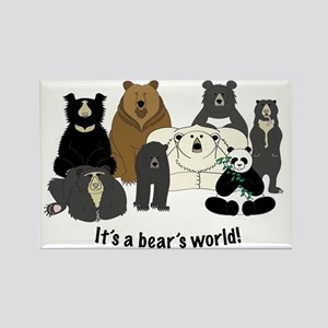 Bear's World Rectangle Magnet