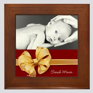 Golden Bow/ Photo Framed Tile