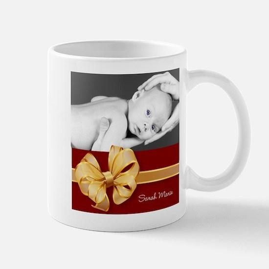 Golden Bow/ Photo Mug