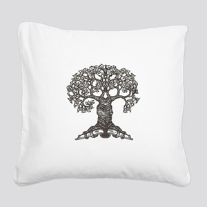 tree_for_totebag_black2 Square Canvas Pillow