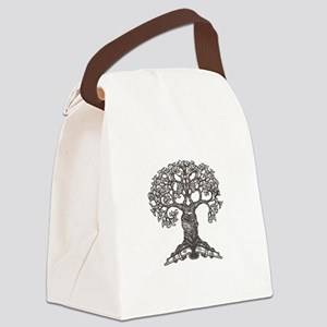tree_for_totebag_black2 Canvas Lunch Bag