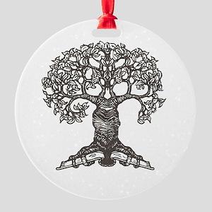 tree_for_totebag_black2 Round Ornament