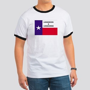 Texas Longnecks & Longhorns Ringer T