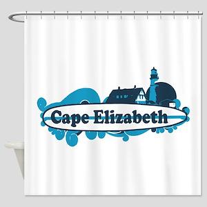 Cape Elizabeth ME - Surf Design. Shower Curtain