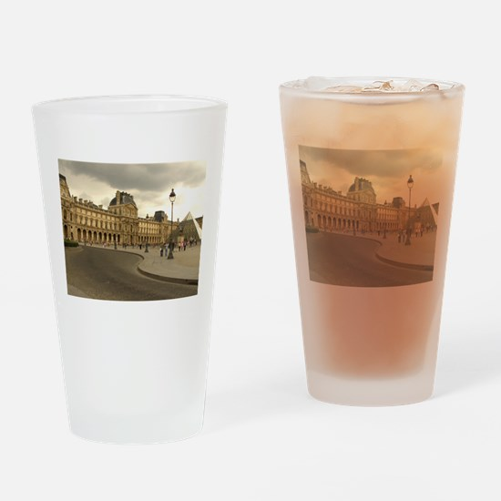 Cloudy Louvre Drinking Glass