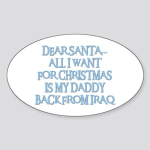 DADDY BACK FROM IRAQ Oval Sticker