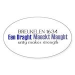 breuklen_1634 Sticker (Oval 50 pk)