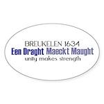 breuklen_1634 Sticker (Oval 10 pk)