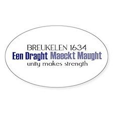 breuklen_1634 Sticker (Oval)