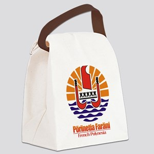 French Polynesia COA Canvas Lunch Bag