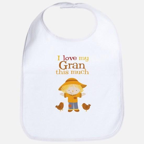 Scarecrow I Love Gran Bib