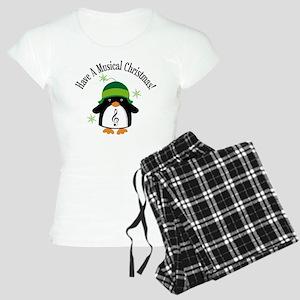 Musical Christmas Penguin Gift Women's Light Pajam