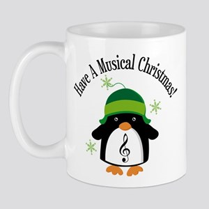Musical Christmas Penguin Gift Mug