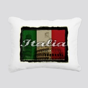 2-Italia Rectangular Canvas Pillow