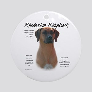 Rhodesian Ridgeback Round Ornament