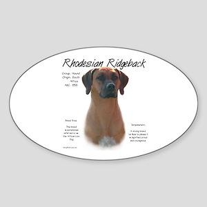 Rhodesian Ridgeback Sticker (Oval)