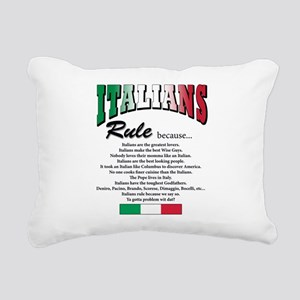Italians rule T-Shirt Rectangular Canvas Pillo