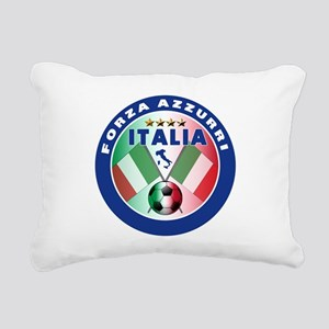 Forza azzurri(blk) Rectangular Canvas Pillow