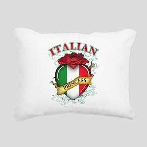 italian princess(blk) Rectangular Canvas Pillo