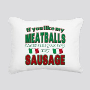 Meatballs Rectangular Canvas Pillow