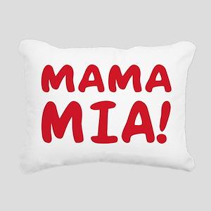 2-Mama mia(blk) Rectangular Canvas Pillow